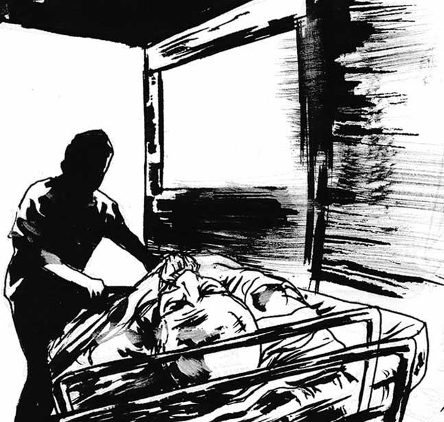 "FurueQuake 29 - ""Post Mortem"" by writer Tim Perry and artist David Valente"