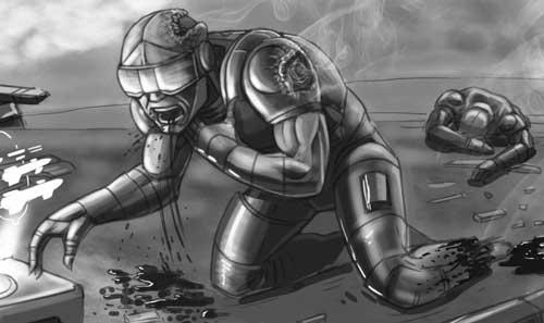 "FutureQuake 29 - ""Slight"" by writer David Tomas and artist Aidan Gilman"