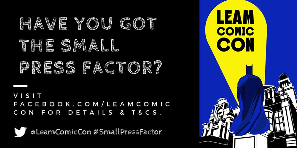 Leam Comic Con Small Press Factor Banner