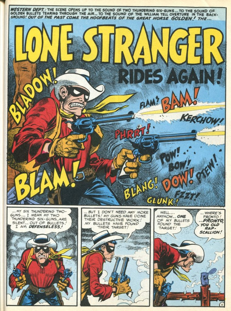 """Jack Davis and Harvey Kurtzman's follow up to their Lone Ranger parody from MAD #3, """"The Lone Stranger Rides Again"""", featured in MAD #8 in 1953"""