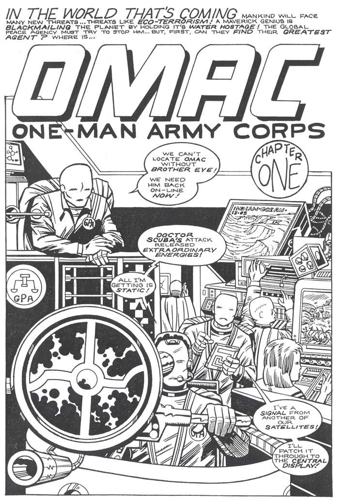 """OMAC fan art - from """"Wargods of Atlantis"""""""