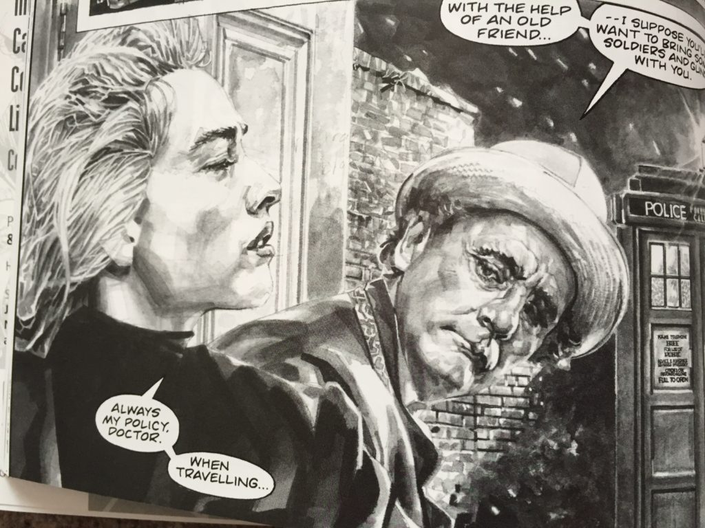 A panel of Richard Pier's Rayner's new art for Evening's Empire