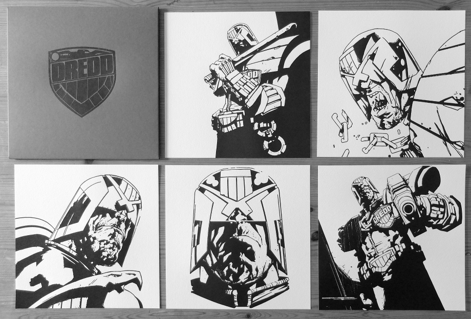 Judge Dredd Letterpress Set by Jock
