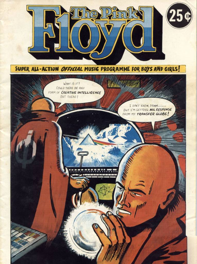 Pink Floyd's Dark Side Of The Moon Comic Book Programme (1975)