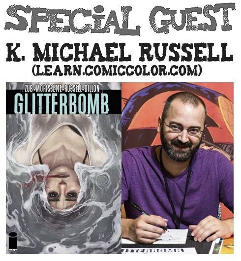 Awesome Comics Podcast Episode 57: K. Michael Russell & Learn Comic Color.com