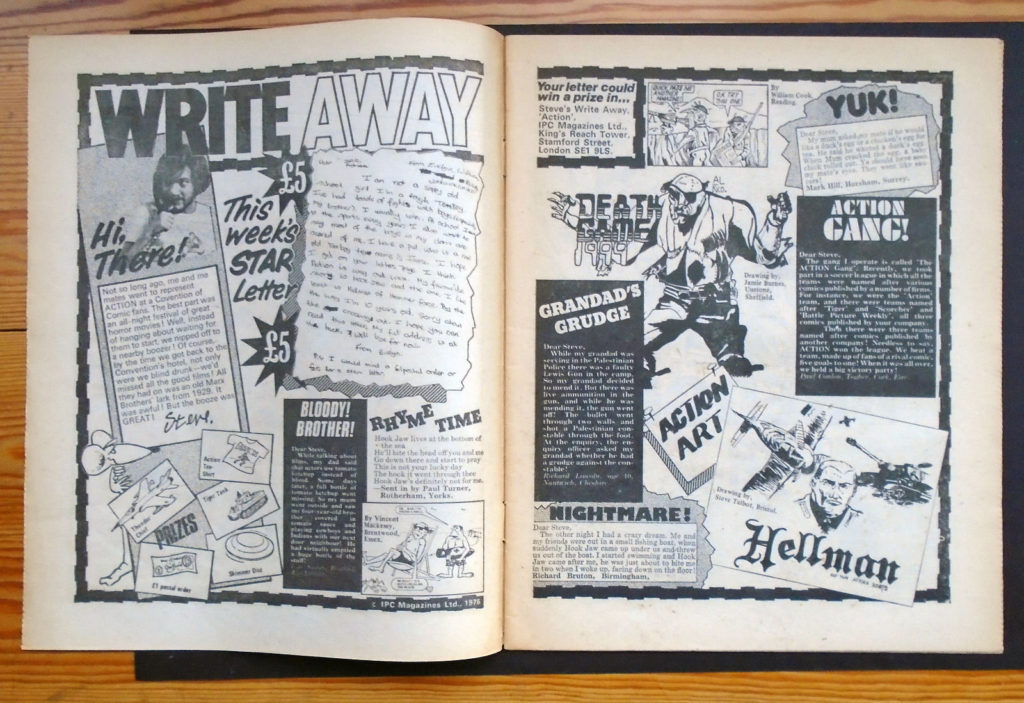 Action 37 - Write Away feature. Steve MacManus, pictured, had already left the title