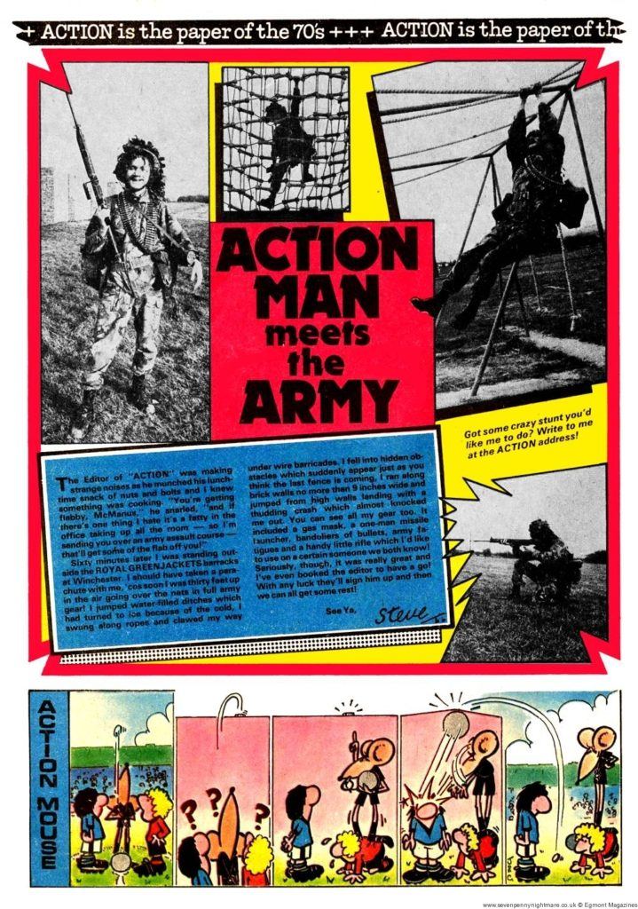 6th March – Running an Army assault course with the Royal Greenjackets