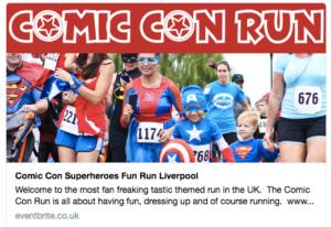 "A page for a ""Comic Con Run"" in Liverpool is still on Eventbrite"