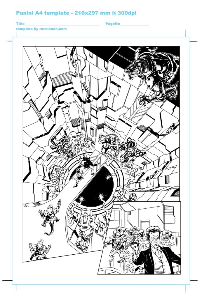 Doctor Who Adventures Issue 17 Page 5 - Inks