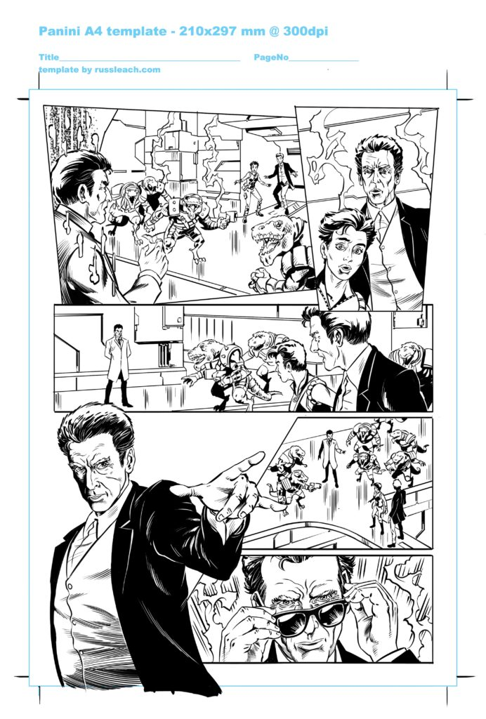 Doctor Who Adventures Issue 17 Page 6 - Inks