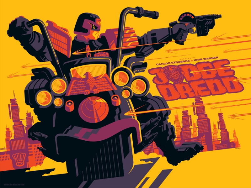 Vice Press - Judge Dredd by Tom Whalen - Variant