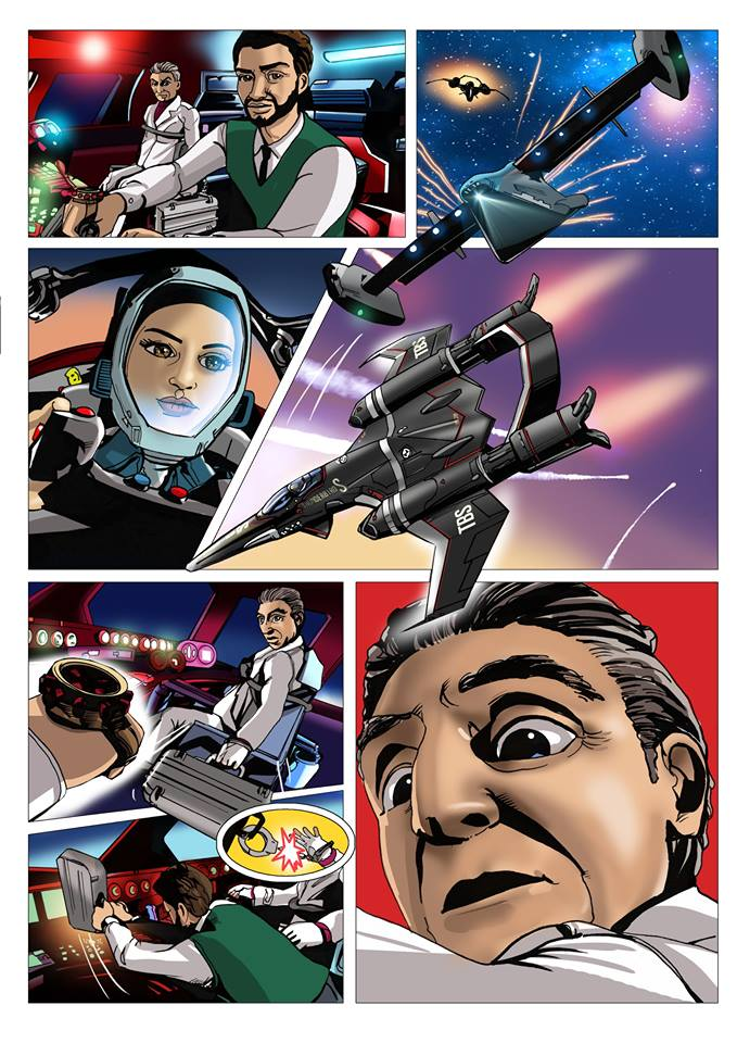 Art from Issue 13 of the Thunderbirds Are Go magazine by Martin Baines