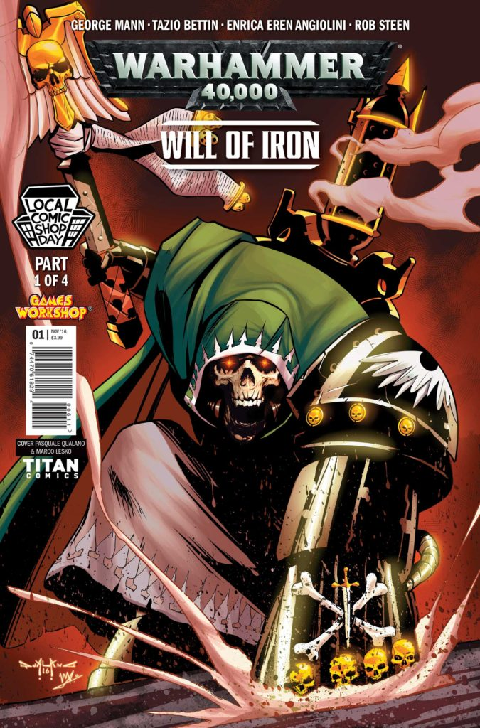 The Local Comic Shop Day variant for Warhammer 40,000: Will of Iron #1 by Pasquale Qualano and Marco Lesko