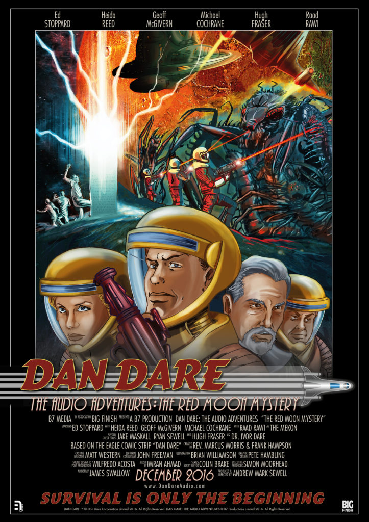 Dan Dare Audio Adventures - Red Moon Mystery Poster by Brian Williamson