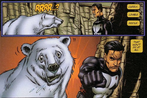 Punisher vs Polar Bear by Steve Dillon
