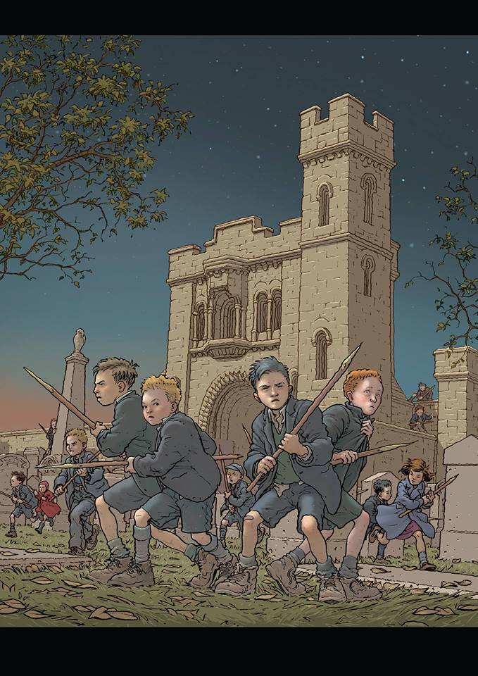 Gorbals Vampire Poster by Frank Quitely