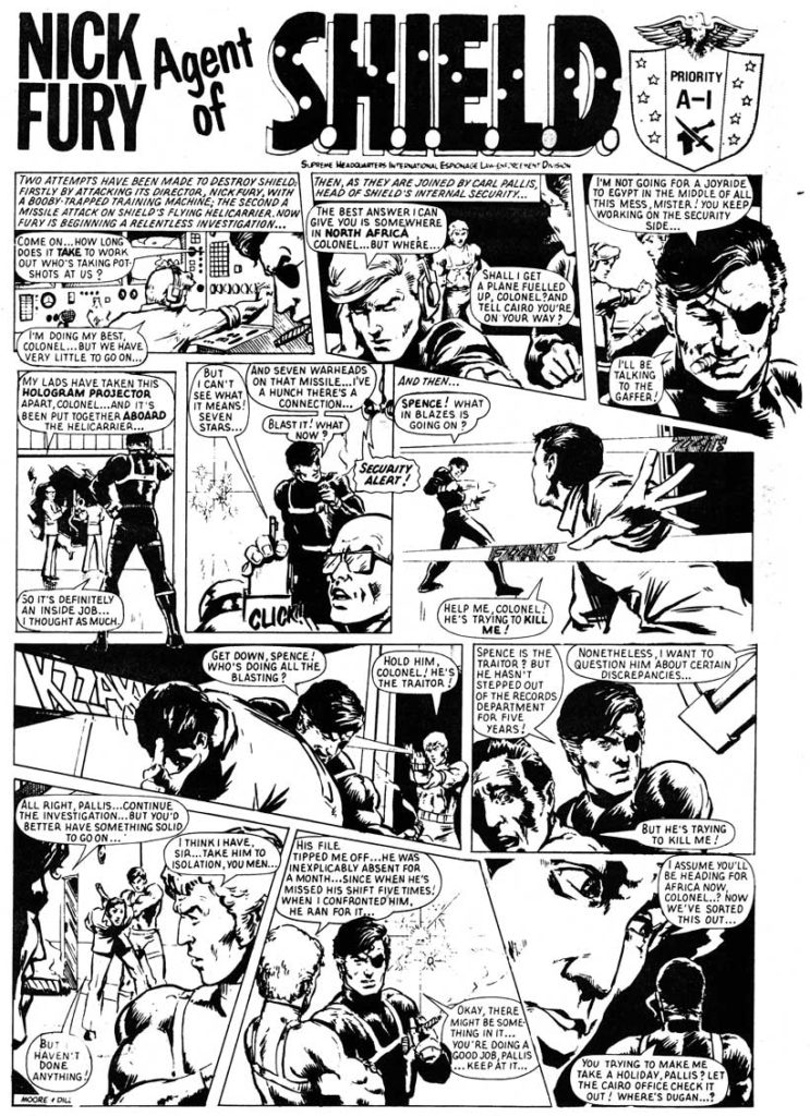 """Steve's """"Nick Fury, Agent of S.H.I.E.L.D."""" for Hulk Weekly, published by Marvel UK"""
