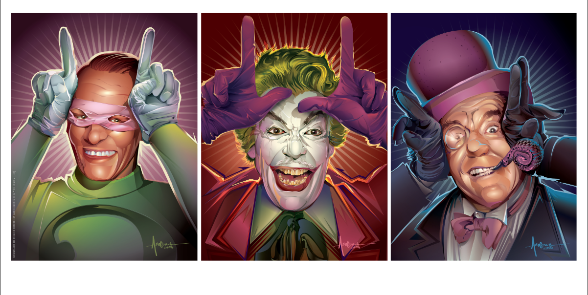 Dark Hall Mansions Prints: Batman '66 - Villains
