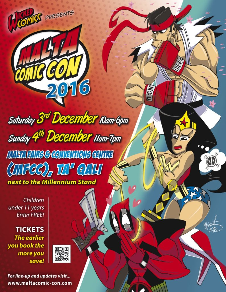Malta Comic Con 2016 Poster
