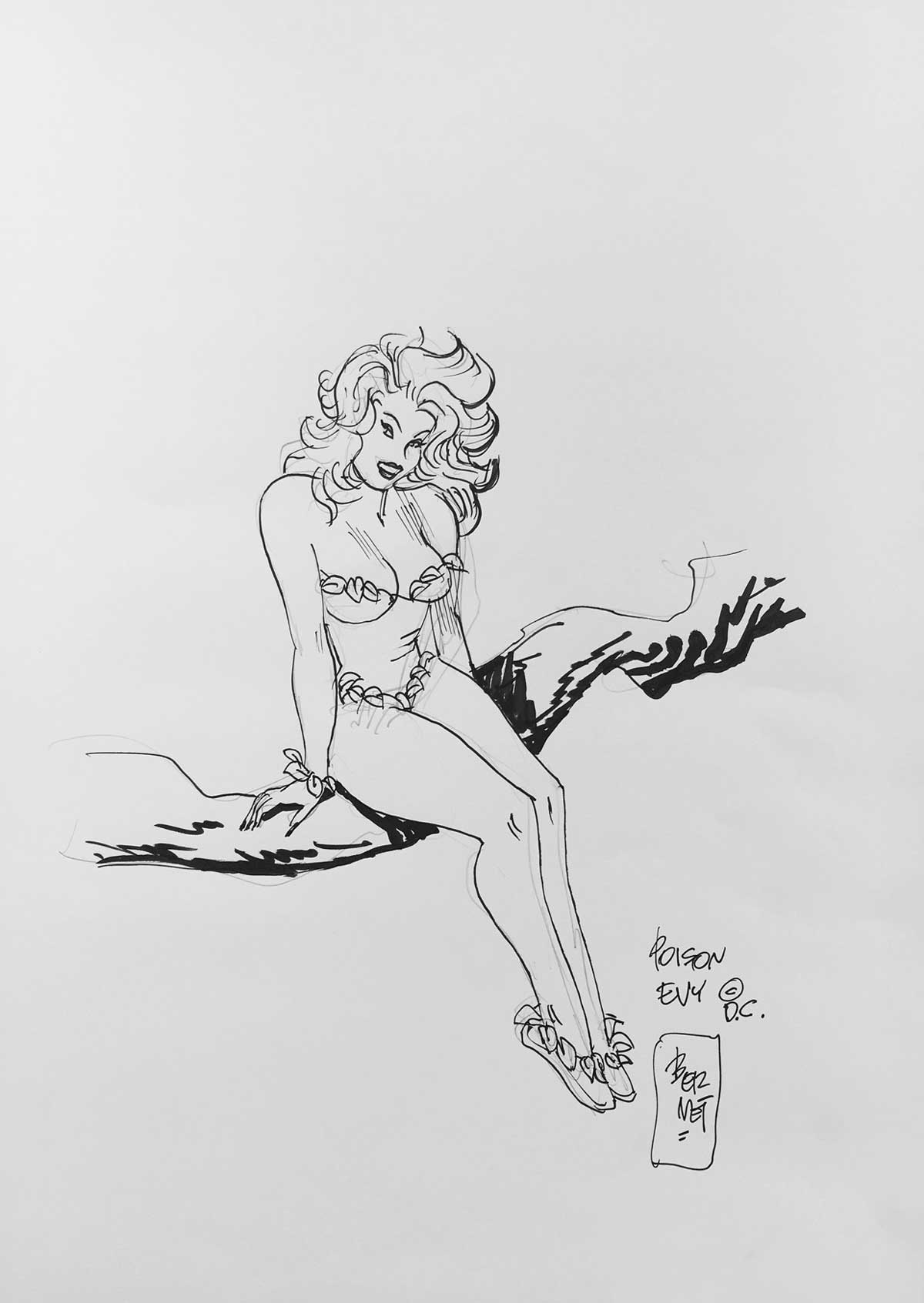 LICAF Auction art: Poison Ivy by Jordi Bernet