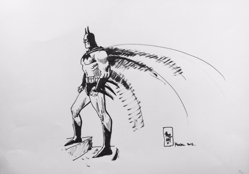 2016 Lakes International Comic Art Festival auction art:  Batman by Jordi Bernet