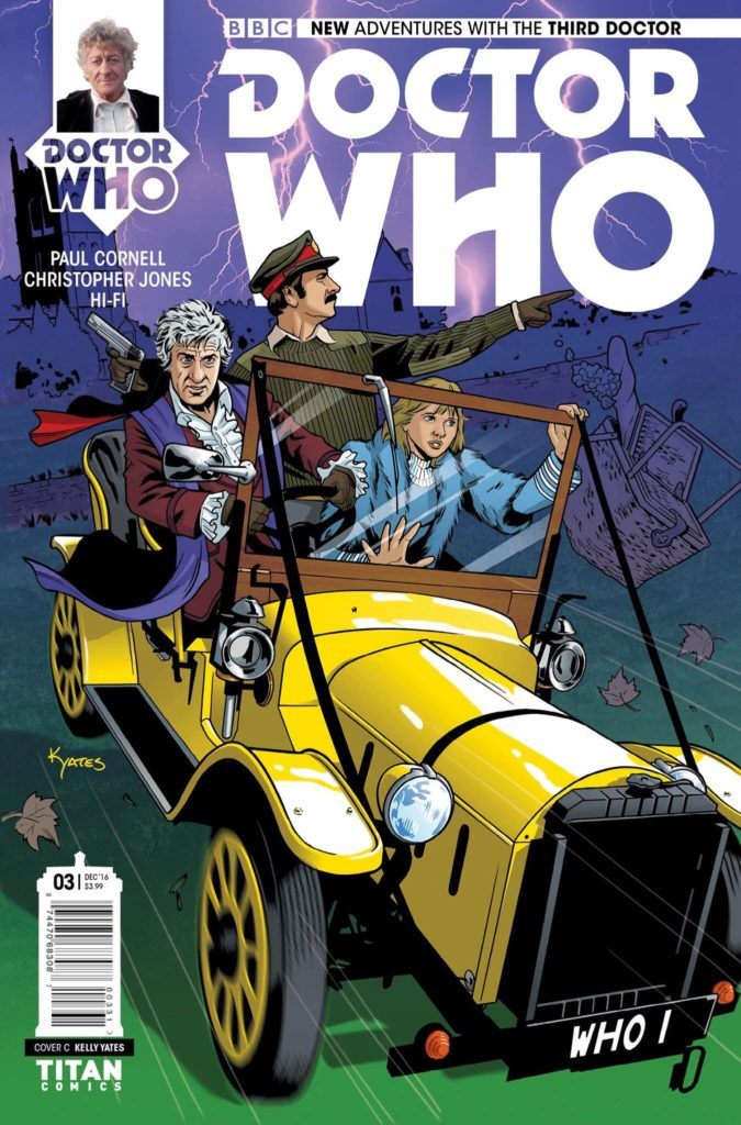 Doctor Who: The Third Doctor - Heralds of Destruction #3 Cover C by Kelly Yates