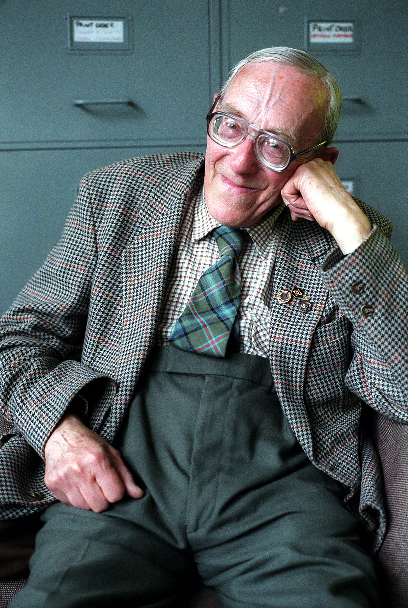 "Derek Lord photographed by Edmond Terakopian in 2001. ""Mr Lord was a joy to meet and a joy to photograph,"" Edmond recalls. Photograph used with kind permission."