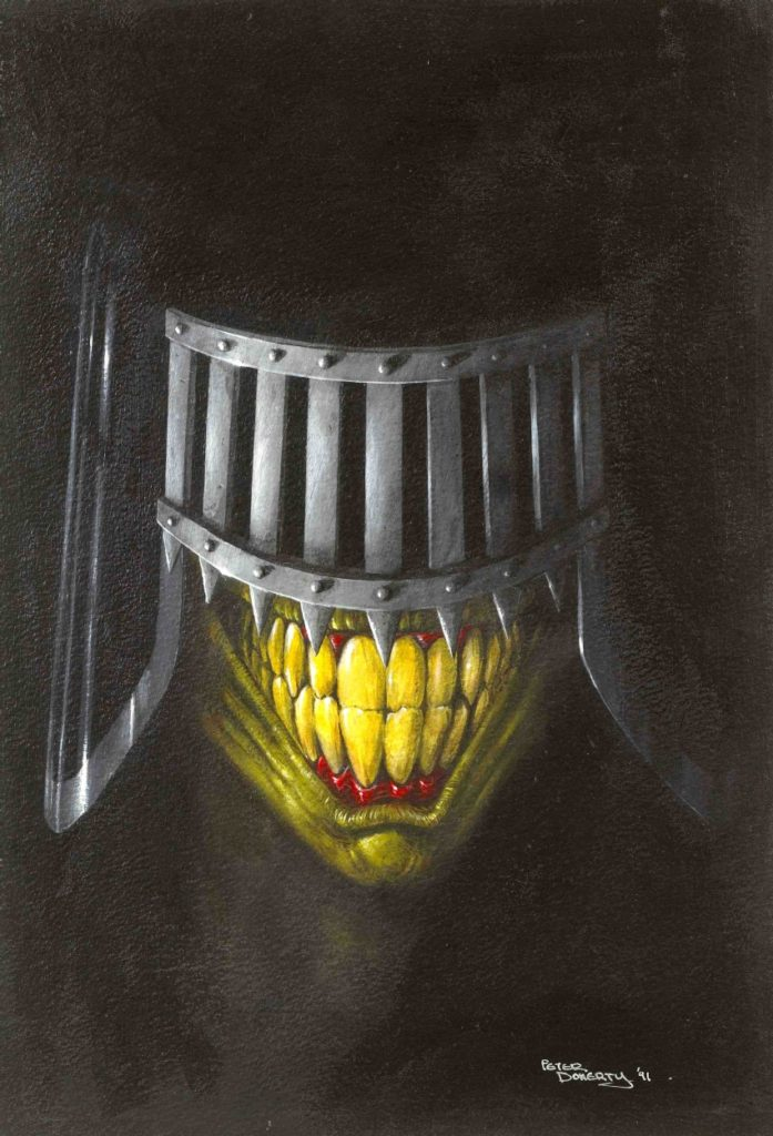 Judge Death for Judge Dredd Megazine Issue 12 by Peter Doherty