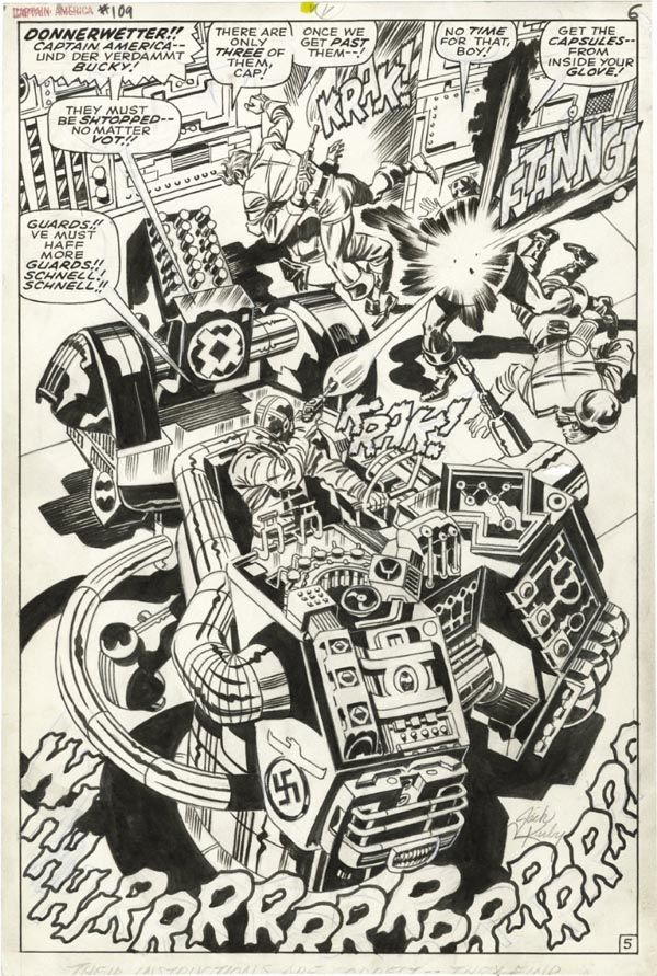 Captain America Issue #109 - Page 5 - Pencils Jack Kirby - Inks : Syd Shores
