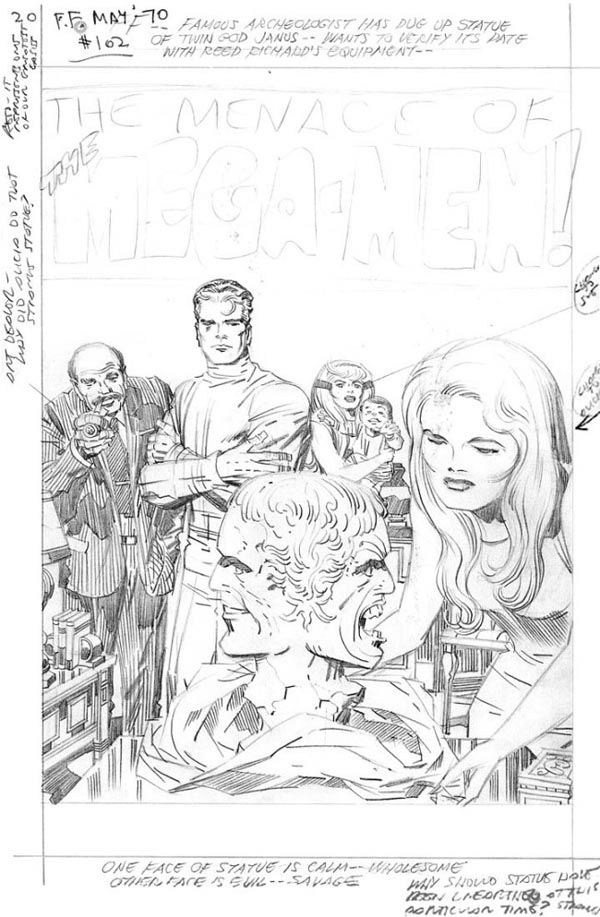 Fantastic Four Splash Page 1 (What should have been) Issue 102 (The lost Issue) Pencils: Jack Kirby