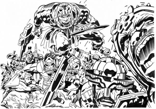 Toxl The World Killer - Panel Detail - Pencils: Jack Kirby - Inks: Mike Royer