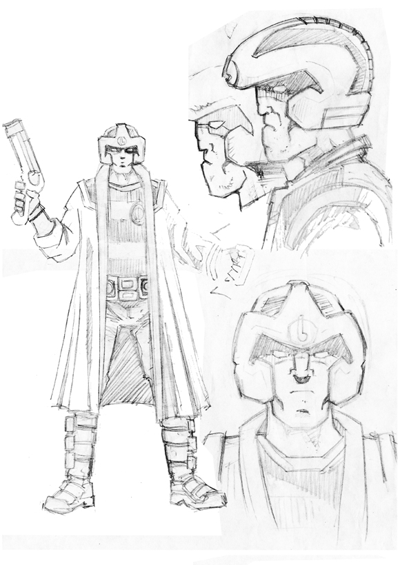 Strontium Dog Character design by David Broughton