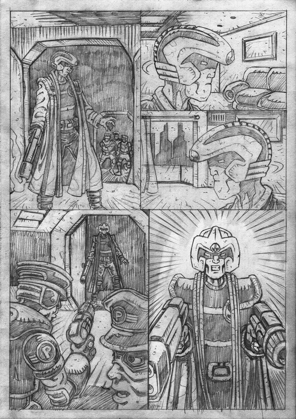 "Strontium Dog ""No Choice At All""  - Pencils 8"