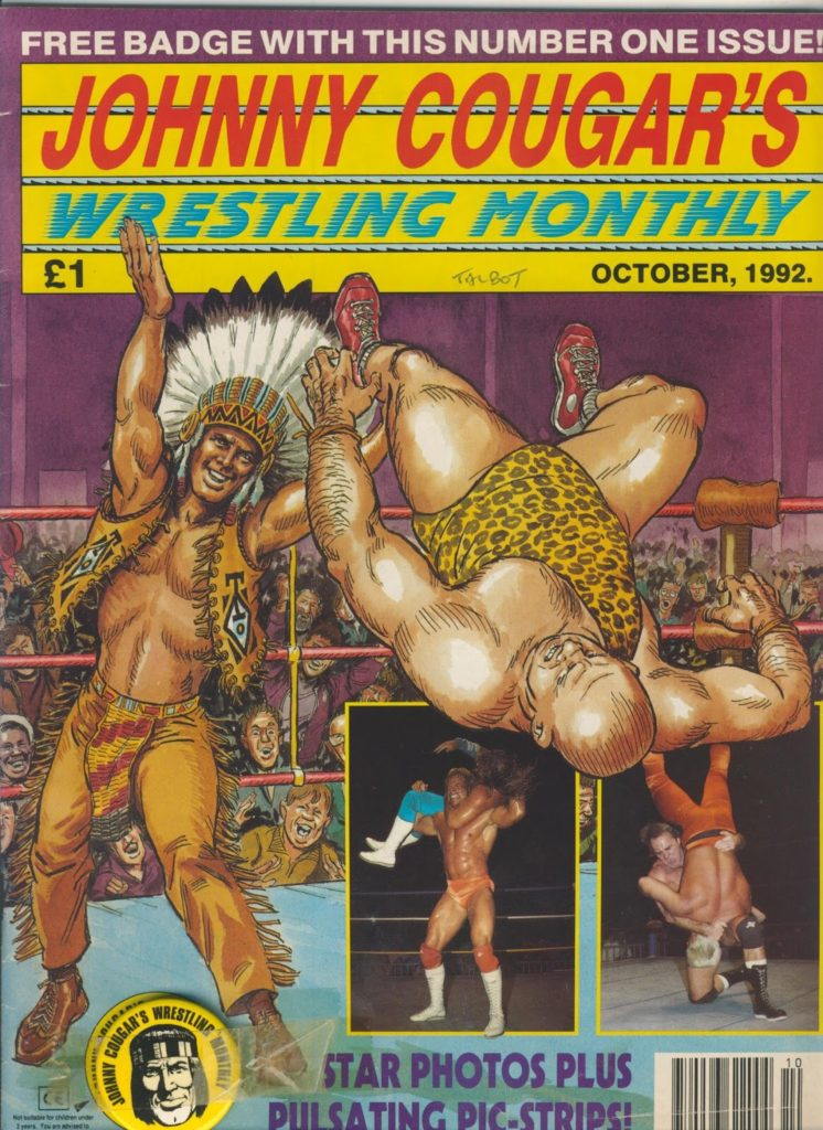 Johnny Cougar Wrestling Monthly Issue One. With thanks to Richard Sheaf