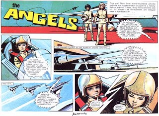 """Art from """"The Angels"""" by Jon Davis, published in Lady Penelope comic"""