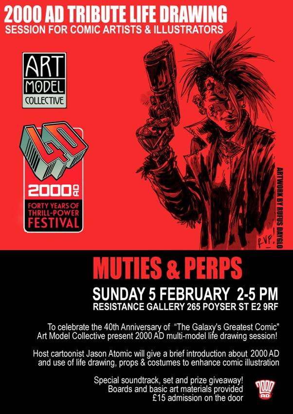 2000AD Muties & Perps is a unique life drawing session