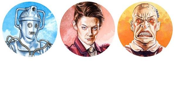 Doctor Who Sticker Pack by Graeme Neil Reid SNIP