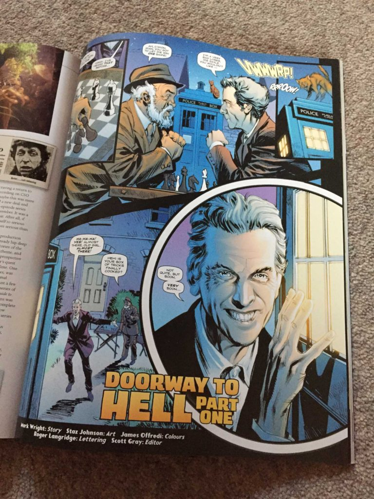 """Staz Johnson brings the Twelfth Doctor to glorious life in the first part of """"Doorway to Hell"""""""