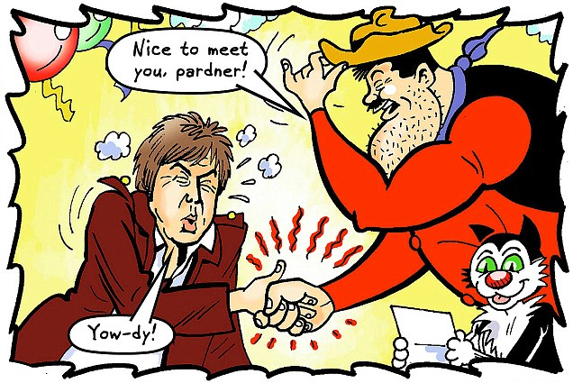 Desperate Dan just doesn't know his own strength - and Sir Paul has forgotten, too!
