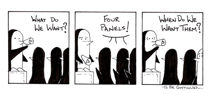 Penned Guins 4 Panels