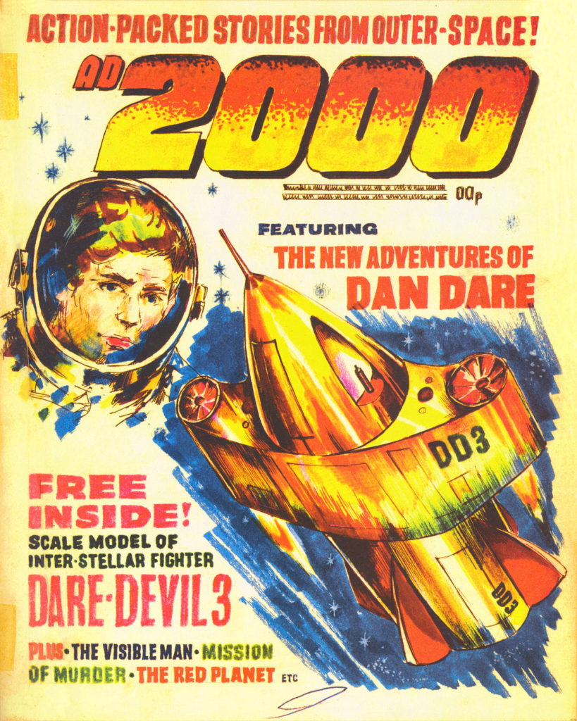 "An early dummy cover for ""AD2000"", cover artist unknown"