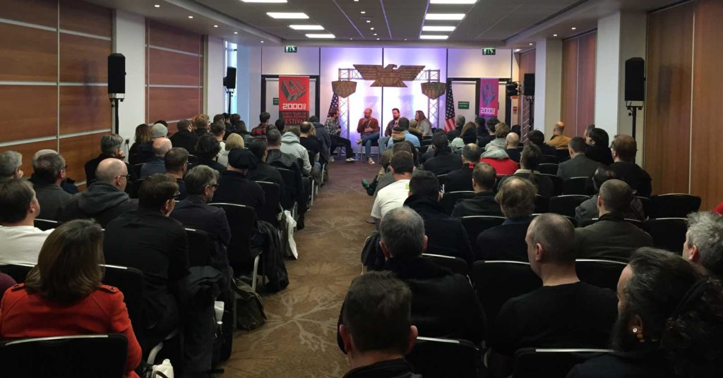 One of the many busy panels at the Festival.