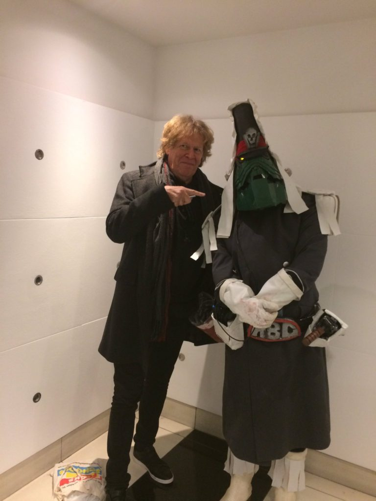 Pat Mills and friend at the 2000AD - 40 Years of Thrill-Power Festival. Photo: Tony Esmond