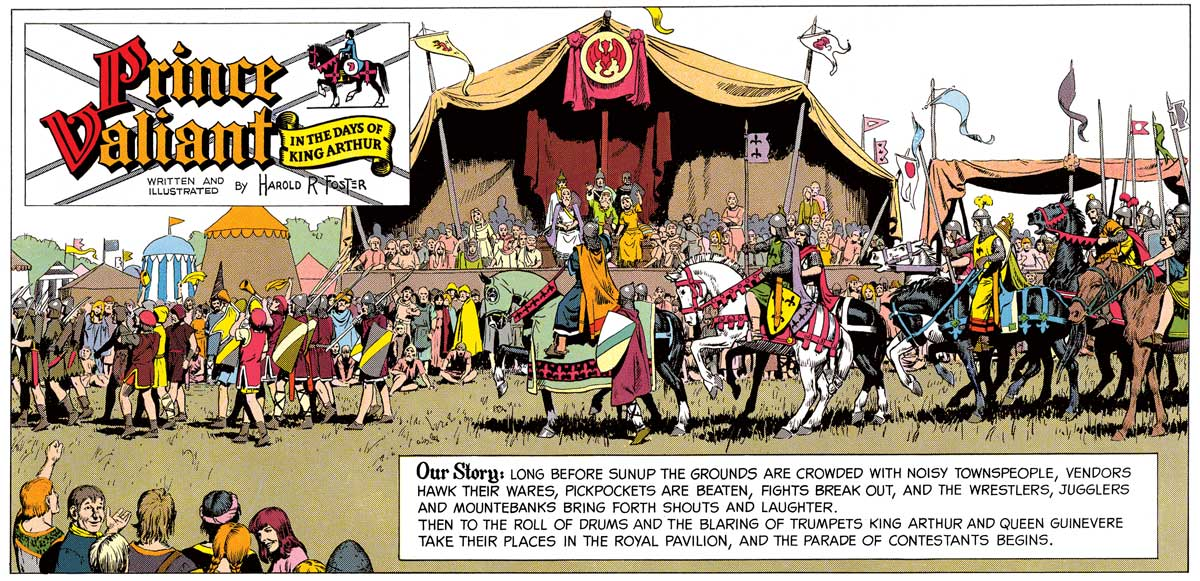 A panel from an episode of Prince Valiant published 2nd February 1964