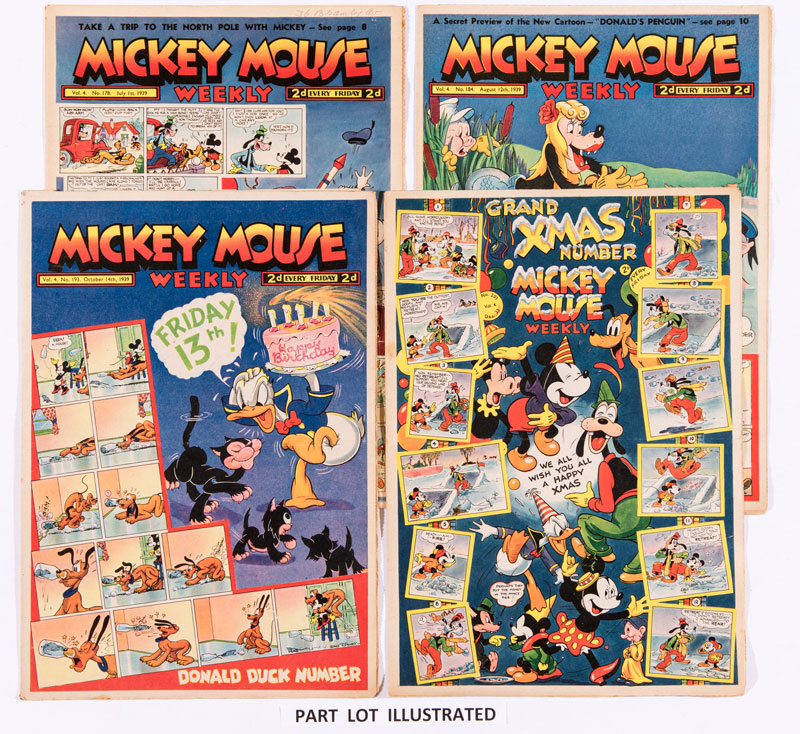Mickey Mouse Weekly (1939, Issues 153-204). A complete year of this comic is on offer