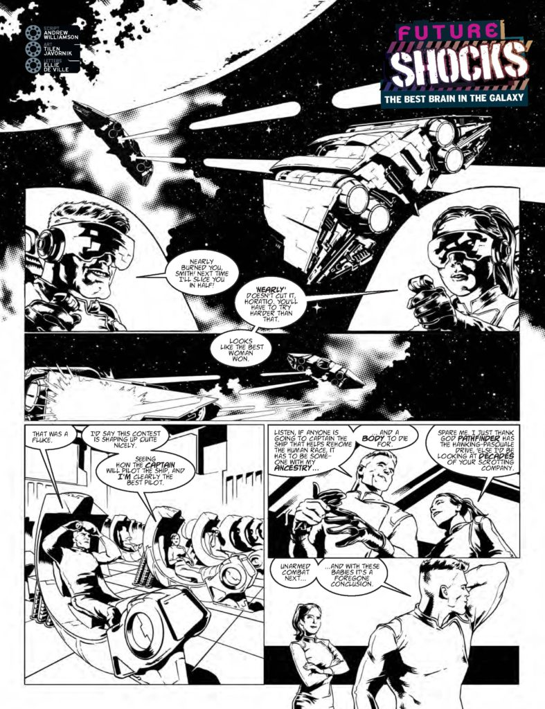 2000AD 2023 - Future Shocks: The Best Brain In The Galaxy