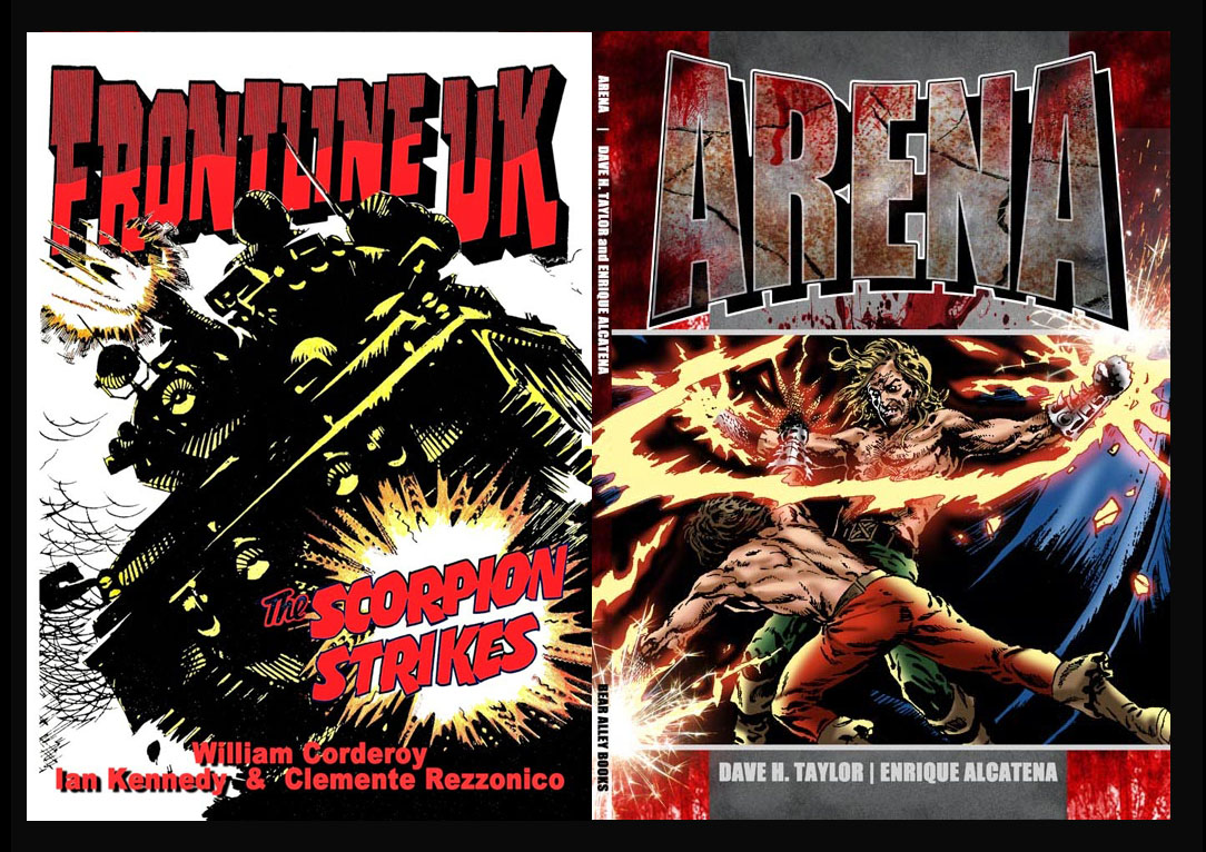 Bear Alley Books - Frontline and Arena Covers