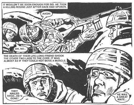 """Art by Carlos Pino for """"Misfit Squad"""", from Issue 4404, which was specially written as the 50th anniversary issue published in 2011"""