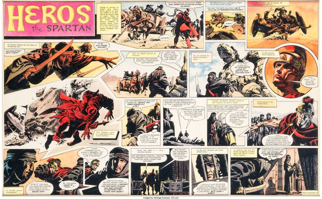 """A spread from """"The Slave Army"""" - the last Heros the Spartan story drawn by Bellamy"""