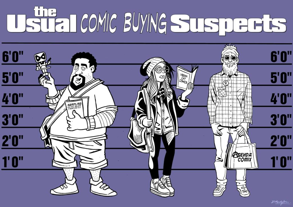 The Usual Comic Buying Suspects by David Broughton